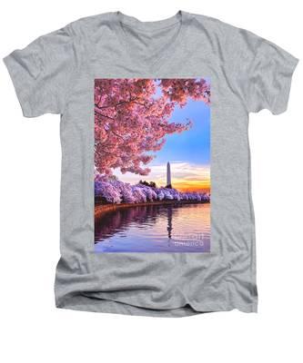 Cherry Blossom Festival  Men's V-Neck T-Shirt