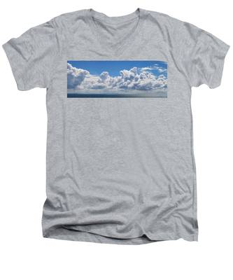 Clouds Over Catalina Island - Panorama Men's V-Neck T-Shirt