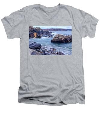 Coast Of Maine In Autumn Men's V-Neck T-Shirt