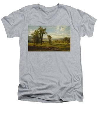 Connecticut River Valley, Claremont, New Hampshire Men's V-Neck T-Shirt