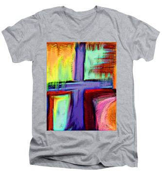 Cross Of Hope Men's V-Neck T-Shirt