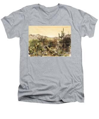 Desert Walk Men's V-Neck T-Shirt