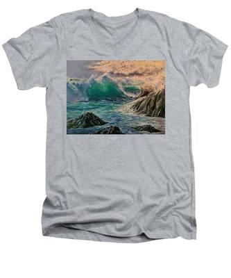 Emerald Sea Men's V-Neck T-Shirt