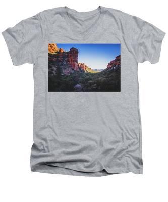 Fay Canyon Vista Men's V-Neck T-Shirt