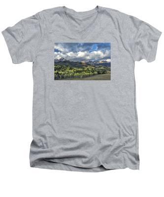 First Light On The Sneffels Range Men's V-Neck T-Shirt