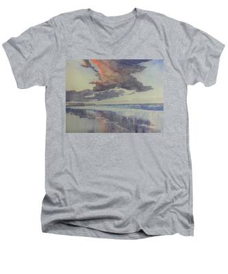 Flamborough Head From Fraisthorpe Beach Men's V-Neck T-Shirt