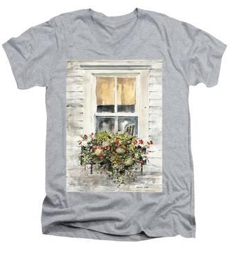 Flower Box Men's V-Neck T-Shirt