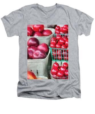 Fresh Market Fruit Men's V-Neck T-Shirt