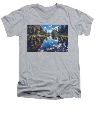 Gem Lake Reflections Men's V-Neck T-Shirt