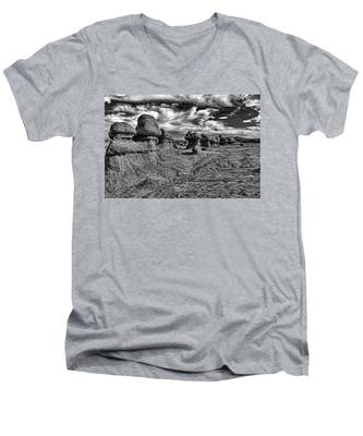 Men's V-Neck T-Shirt featuring the photograph Goblins All In A Row by Kyle Lee