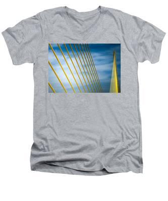 Golden Glow Of Tampa Men's V-Neck T-Shirt