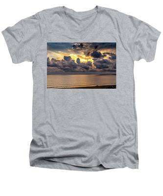 Golden Surf - Point Dume, California Men's V-Neck T-Shirt