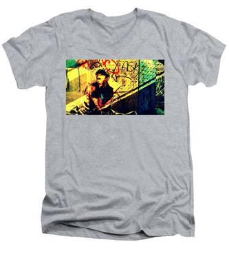 Hidden Stranger Men's V-Neck T-Shirt