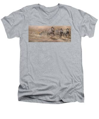 In Pursuit Men's V-Neck T-Shirt