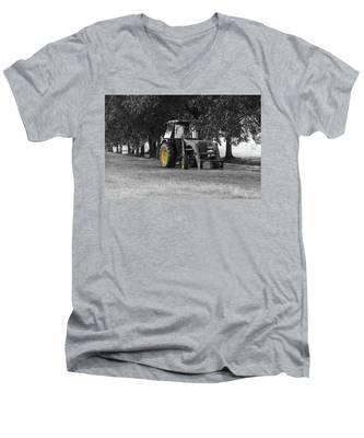 John Deere 620 In Selective Color Men's V-Neck T-Shirt