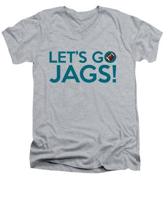 Let's Go Jags Men's V-Neck T-Shirt