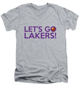 Let's Go Lakers Men's V-Neck T-Shirt