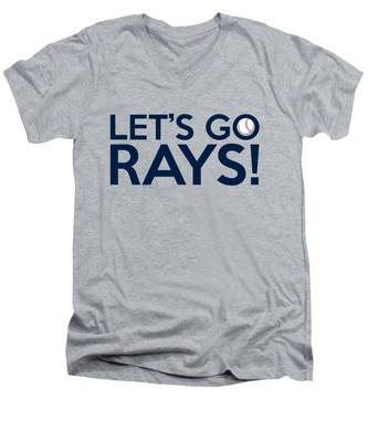 Let's Go Rays Men's V-Neck T-Shirt