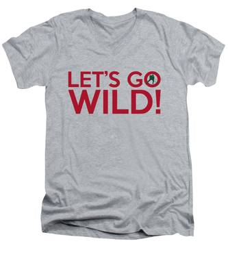 Let's Go Wild Men's V-Neck T-Shirt