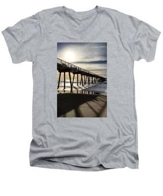 Light Of The Pier  Men's V-Neck T-Shirt