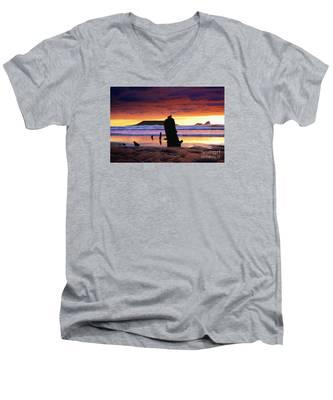 Llangennith Helvetia Wreck Men's V-Neck T-Shirt