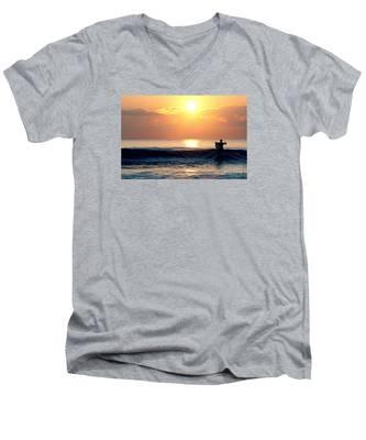 Llangennith Last Wave Men's V-Neck T-Shirt