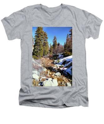 Mountain Scene Men's V-Neck T-Shirt