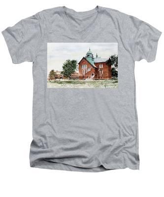 Oklahoma State University Old Central Men's V-Neck T-Shirt