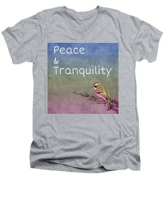 Peace And Tranquility  Men's V-Neck T-Shirt