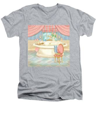 Pretty Bathrooms II Men's V-Neck T-Shirt