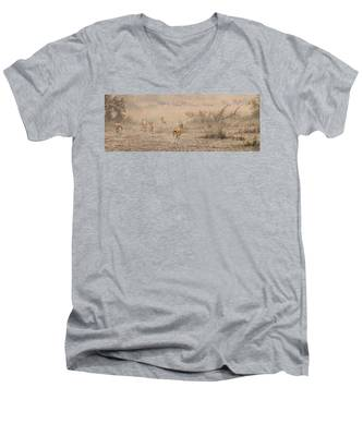Quick Run Men's V-Neck T-Shirt