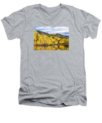 Reflection With Ophir Needles II Men's V-Neck T-Shirt