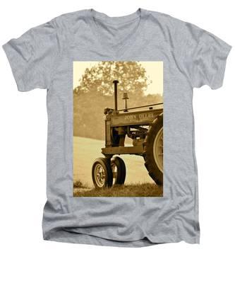 Resting In Sepia Men's V-Neck T-Shirt