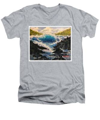 Rocky Sea Men's V-Neck T-Shirt
