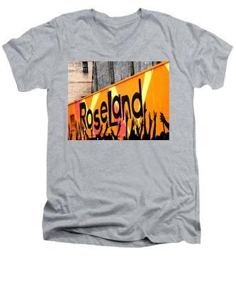 Roseland Ballroom In Nyc Men's V-Neck T-Shirt