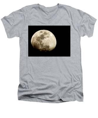 Satellite Serenade  Men's V-Neck T-Shirt