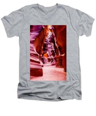 Serene Light Men's V-Neck T-Shirt