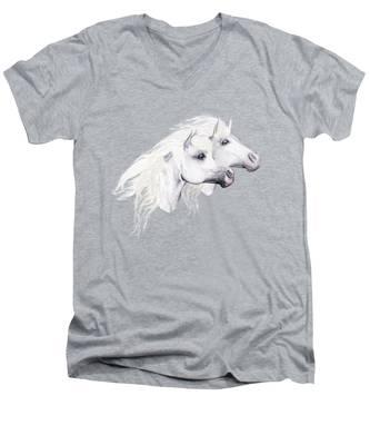 Silver Manes Men's V-Neck T-Shirt