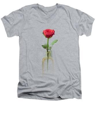 Smell The Rose Men's V-Neck T-Shirt