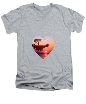Solitary Sister Men's V-Neck T-Shirt