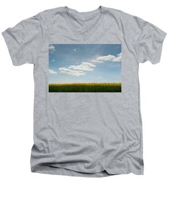 Spring Day Clouds Men's V-Neck T-Shirt