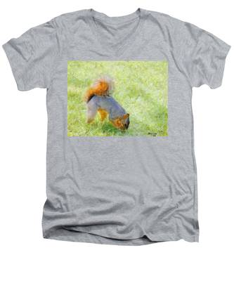 Squirrelly Men's V-Neck T-Shirt