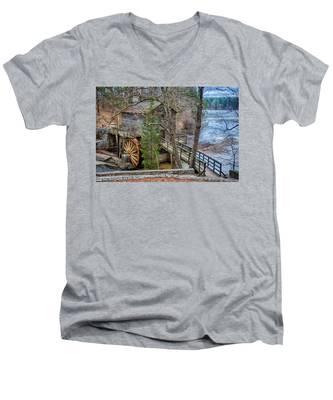 Stone Mountain Park In Atlanta Georgia Men's V-Neck T-Shirt