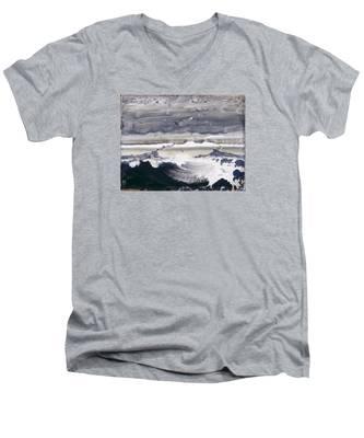 Stormy Sea Men's V-Neck T-Shirt