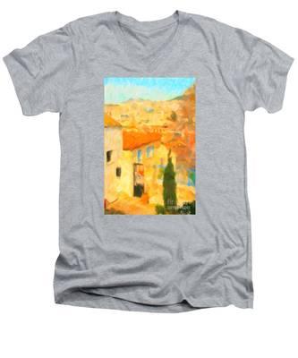 Summer In Athens Men's V-Neck T-Shirt
