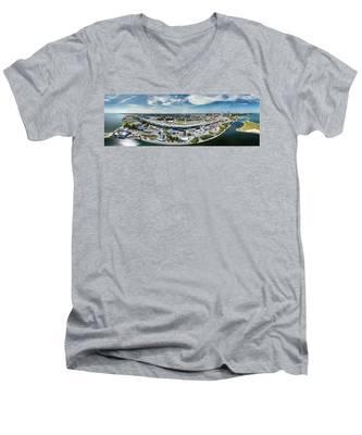 Summerfest Panorama Men's V-Neck T-Shirt