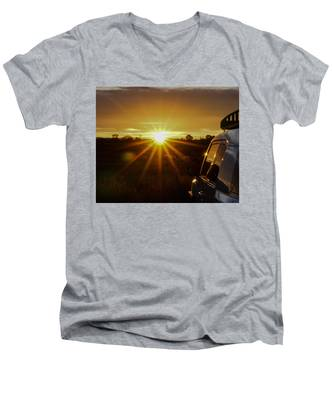 Sunrise And My Ride Men's V-Neck T-Shirt