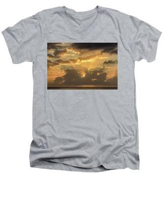 Sun's Rays Men's V-Neck T-Shirt