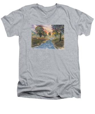 Sunset Boulevard Men's V-Neck T-Shirt