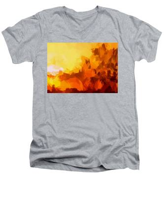 Sunset In Valhalla Men's V-Neck T-Shirt